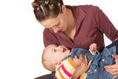 Madre con bambino ridere — Foto Stock