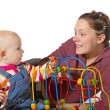 Stock Photo: Baby with motor activity development delay