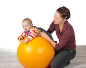 Baby with delayed motor activity development — Stock Photo