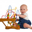 Stock Photo: Happy baby with educational toy