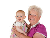 The joy of being a grandmother — Stock Photo