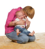 Mother with laughing baby — Stock Photo