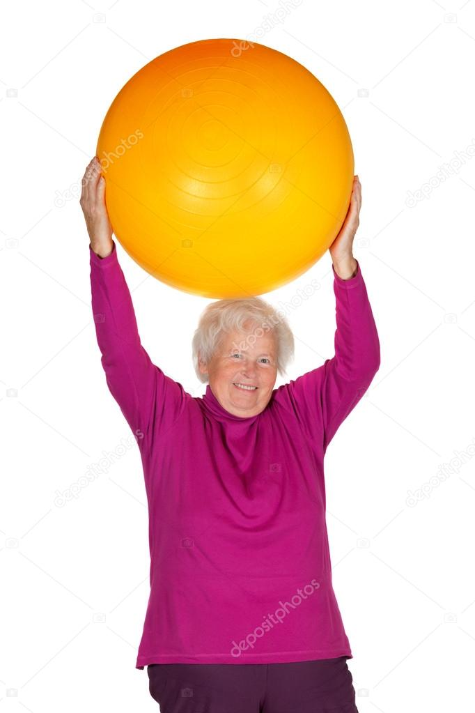 haute femme exercice avec ballon de gym photographie martinaosmy 24566021. Black Bedroom Furniture Sets. Home Design Ideas