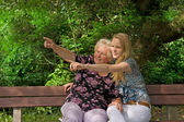 Senior woman and young woman — Stock Photo