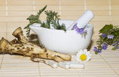 Natural herbal remedies — Stock Photo