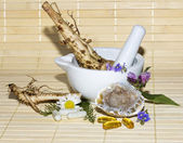 Alternative medicine still life — Stock Photo