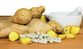 Fresh root ginger — Stock Photo