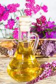 Herbal bath oil — Stock Photo