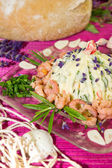 Herb butter with shrimps — Stock Photo