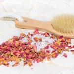 Bath salts and rose petal potpourri — Stock Photo #28558395