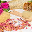 Luxury aromatic bathing accessories — Stock Photo
