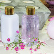 Two bottles of floral perfume — Stock Photo #28603015