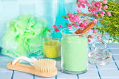 Fresh healthy bathing accessories — Stock Photo