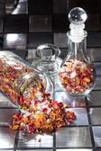 Potpourri with dried rose petals — Stock Photo
