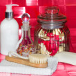 Bathing accessories still life — Stockfoto
