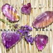 Amethyst and ametrine polished gemstones — Stock Photo #29407117