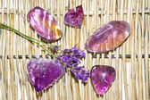 Amethyst and ametrine polished gemstones — Stock Photo