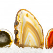 Colourful agates — Stock Photo