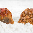 Wulfenite crystals — Stock Photo