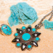 Stock Photo: Turquoise gemstones