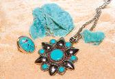 Turquoise gemstones — Stock Photo
