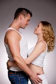 Felice marito e moglie incinta — Foto Stock