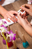Manicure making concept — Stock Photo