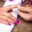 Manicure nail — Stock Photo