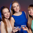Group shot of young women — Stock Photo