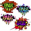 Sale graffiti banners set — Stock Vector