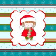 Christmas little girl — Vettoriali Stock