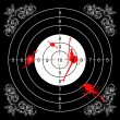 Bloody baroque target — Stock Photo