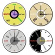 Stock Photo: Expressions clock theme set