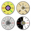 Expressions clock theme set — Stock Photo