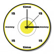 Royalty-Free Stock Photo: Time is money clock theme