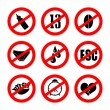Alternative prohibition signs — Stock Photo
