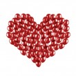 Heart made of balloons — Stock Photo