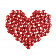 Heart made of balloons — Stock Photo #24438041