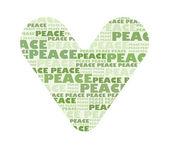 Heart full of peace — Stock Photo