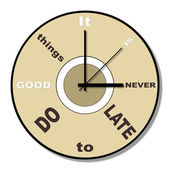 Never late clock theme — Stockfoto
