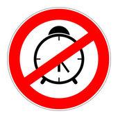 Prohibition sign no alarm clock — Stock Photo
