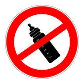 Prohibition sign no artificial nutrition — Stock Photo