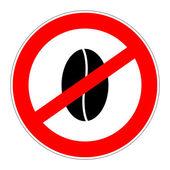 Prohibition sign no caffeine — Stock Photo