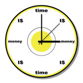 Time is money clock theme — Stock Photo