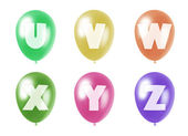 Alphabet balloons set u-z — Stock Photo