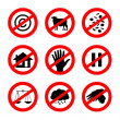 Alternative prohibition signs set 2 — Stock Photo
