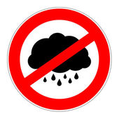 Prohibition sign no bad weather — Stock Photo