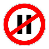 Prohibition sign no pause — Stock Photo