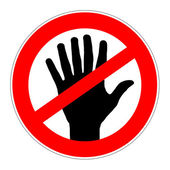 Prohibition sign no genetically modified products — Stock Photo
