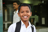 Smiling indian schoolboy — Stock Photo